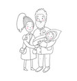 happy family with newborns mom dad and kids on a vector image vector image