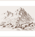 high mountains surrounding hills and alpine vector image vector image