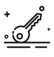 icon key security icon modern outline icon for vector image vector image