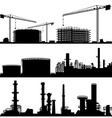 Industrial Construction Site Set vector image vector image