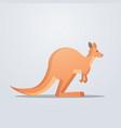 kangaroo icon cute cartoon endangered wild animal vector image vector image
