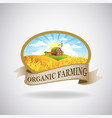 label with image a farm vector image