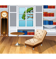 Living room fully furnished vector image vector image