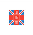 Lon-Digi-Don T-shirt with UK flag and inscription vector image vector image