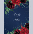luxury stylish floral watercolor wedding invite vector image vector image