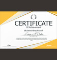 modern certificate or diploma template 4 vector image vector image
