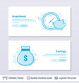 money bag and piggy bank symbols vector image