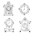 Old vintage clock hand drawn vector image vector image