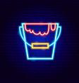 paint bucket neon sign vector image vector image