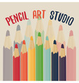 Pencil art studio vector image