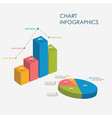 pie circle chart bar chart infographics elements vector image vector image