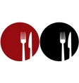 plate with fork and knifeXJADEHIGFSYDZRRNXQWT vector image vector image