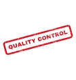 Quality Control Rubber Stamp vector image vector image