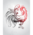 red rooster vector image
