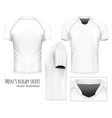 rugby jersey vector image vector image