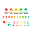 satisfaction rating feedback scale with emoticon vector image