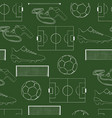 seamless pattern football object vector image vector image