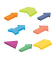 set of eight colorful isometric arrows vector image vector image