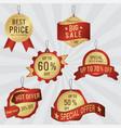set sale labels and banner luxury golden design vector image