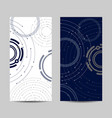 set vertical banners geometric pattern with vector image