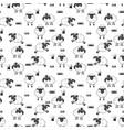 sheep pattern vector image vector image