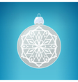 Silver Ball with Snowflake Merry Christmas vector image vector image