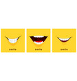 smile day cards happy smiles positive mood vector image