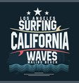 surf t-shirt graphic design surfing grunge print vector image vector image