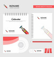 syringe logo calendar template cd cover diary and vector image vector image