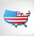 usa 3d flag in form of map vector image vector image