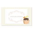 vintage greeting card template filigree frame on vector image vector image