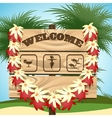 Welcome to Paradise vector image vector image