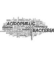 what good can be found in bacteria text word vector image vector image
