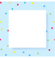 white empty paper rectangle with copy space vector image vector image