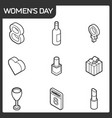 womens day isometric icons vector image vector image