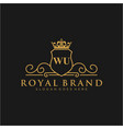wu letter initial luxurious brand logo template vector image vector image
