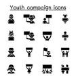 youth campaign related icons contains such icons vector image