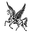 pegasus for coloring or tattoo vector image