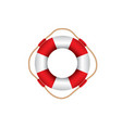 red and white lifebuoy vector image