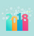 2018 happy new year abstract background vector image
