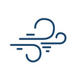 abstract simple icon windy weather in line art vector image
