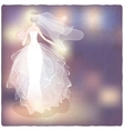 bride on blurred background vector image vector image