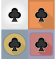 casino flat icons 06 vector image vector image