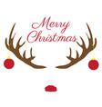 christmas antlers with red nose vector image vector image