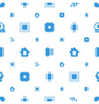 circuit icons pattern seamless white background vector image vector image