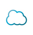 cloud computing user interface blue gradient vector image