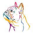 colorful decorative portrait french bulldog vector image