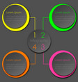 colorful neon infographic circle design vector image