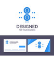 creative business card and logo template sign vector image vector image