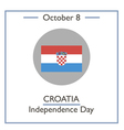 Croatia Independence Day vector image vector image